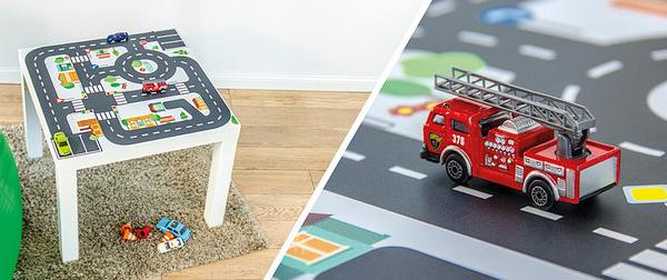 Ikea-Lack-Tisch-mit-Klebefolie-Spieltisch