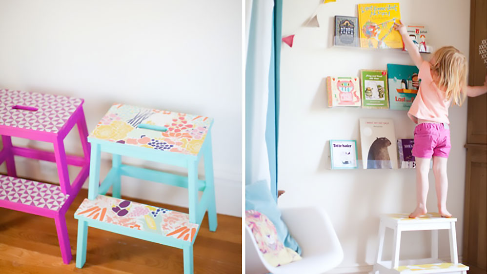 ikea hocker ganz einfach pimpen new swedish design. Black Bedroom Furniture Sets. Home Design Ideas