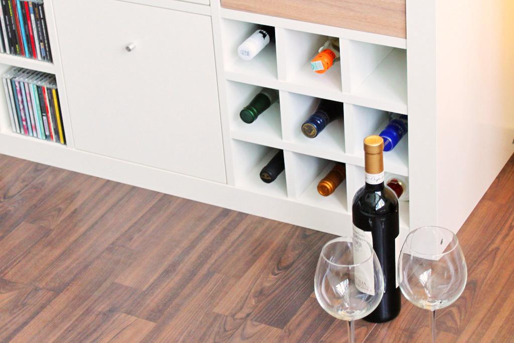 so machst du aus deinem ikea expedit ein weinregal new. Black Bedroom Furniture Sets. Home Design Ideas