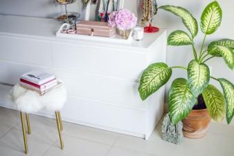 Ein neuer Look für den Ikea Marius Hocker