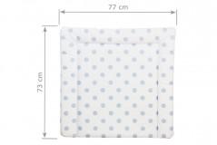 Wickelauflage 77 x 73 cm in beige mit blauen Punkten