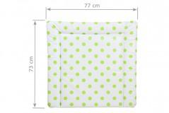 Wickelauflage 77 x 73 cm mit grünen Punkten