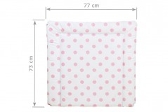 Wickelauflage 77 x 73 cm rosa Punkte