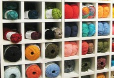 Ikea Kallax Regal zur Aufbwahrung von Wolle