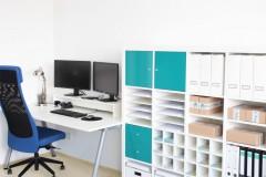 Büro mit Expedit Regal Einsätzen