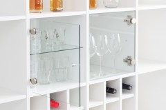 Glasvitrinen Einsatz im Expedit Regal von Ikea