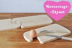 Frühstücksbrettchen mit dem Haken als Muttertagsaktion - Wir sagen DANKE,MAMA!