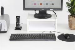 Monitorständer mit Papierfach für Galant Schreibtisch