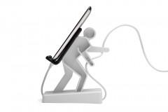 Boris Smartphone und Kabelhalter