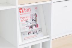 Prospektständer mit Magazin im Ikea Regal