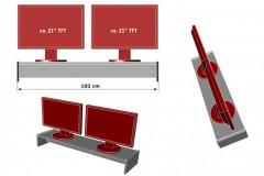 XXL Monitorständer für Ikea Schreibtisch