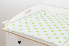 Wickelbrett Deluxe mit Wickelauflage (grüne Punkte)