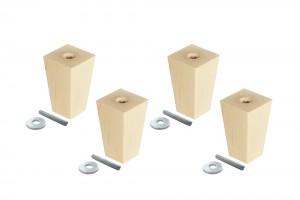 Ikea Sofa Möbelfüße mit Gewindestange, Pyramid, im 4er-Set, klein