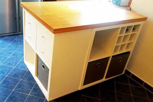 So Baust Du Dir Ganz Leicht Eine Kucheninsel Aus Dem Ikea Kallax