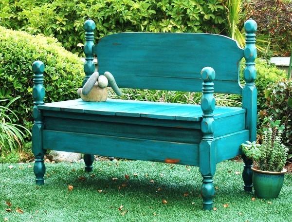 DIY_Gartenbank_aus_Bett