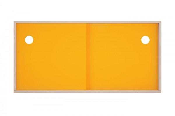 Acryltür-Einsatz in gelb