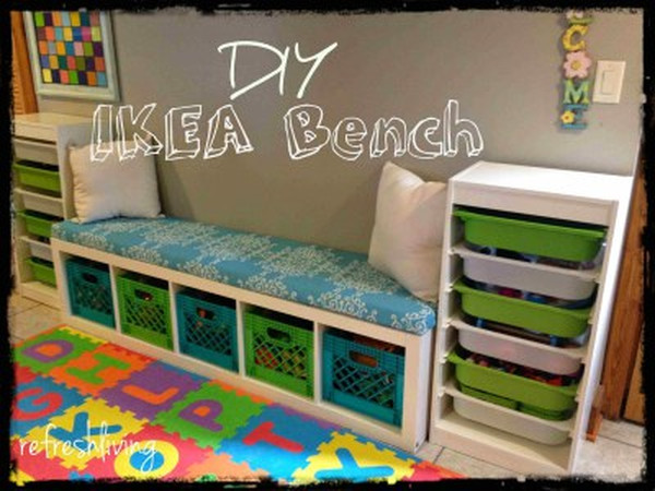 Ikea kinderzimmer regal  So machst du aus deinem Ikea Kallax Regal eine coole Sitzbank ...