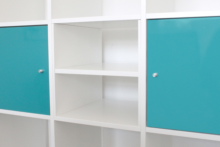 HALVERA Extra Regalfach für Ikea Kallax Regal (Wei