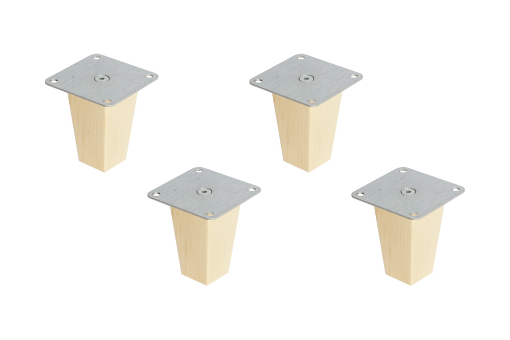 FOT Möbelfüße für Ikea Kallax Regal (Pyramid 10 cm