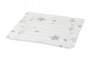 Wickelauflage 77 x 73 cm mit schraffierten Sternen