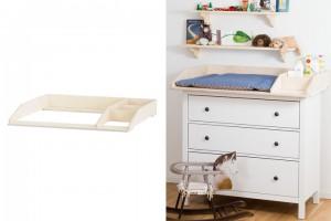 Wickelaufsatz mit Fach auf Ikea Hemnes Kommode