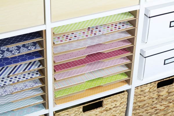 Ideal für Scrapbooking: Storage im Kallax Regal