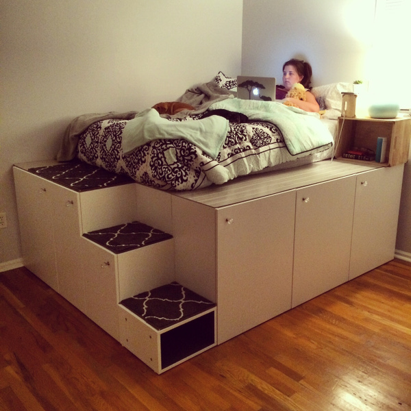 ikea hack bett. Black Bedroom Furniture Sets. Home Design Ideas