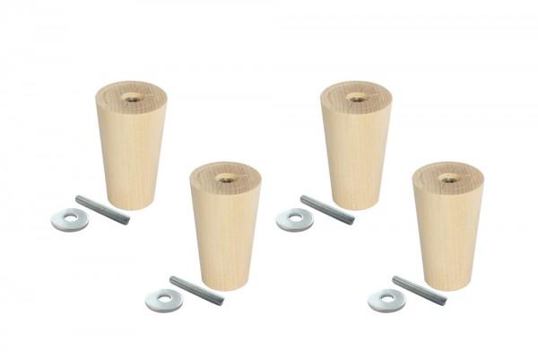 Ikea Sofa Möbelfüße mit Gewindestange, Ko,n im 4er-Set, klein