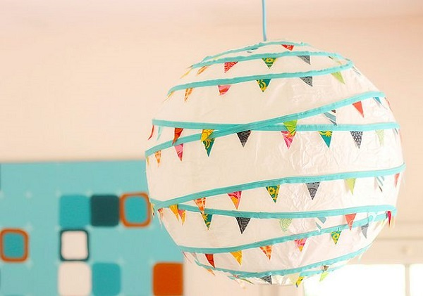Diy Stylishe Deckenleuchte Aus Ikea Papierlaterne New Swedish Design