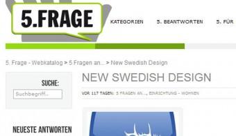 Interview zu New Swedish Design auf 5.Frage