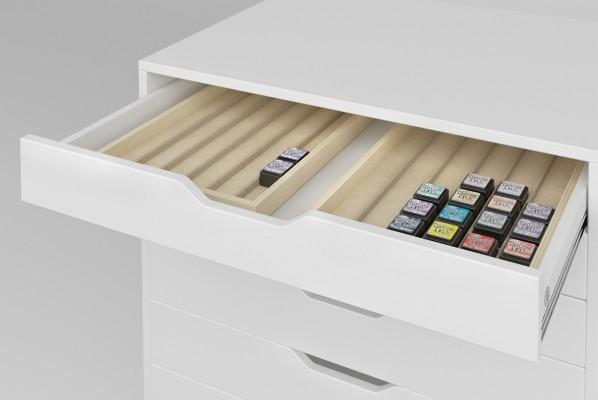 Schubladeneinsätze Stempelkissen Ikea Alex Container