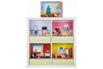 Ein echtes Kinderspiel! – Das Puppenhaus im Ikea Expedit & Kallax Regal