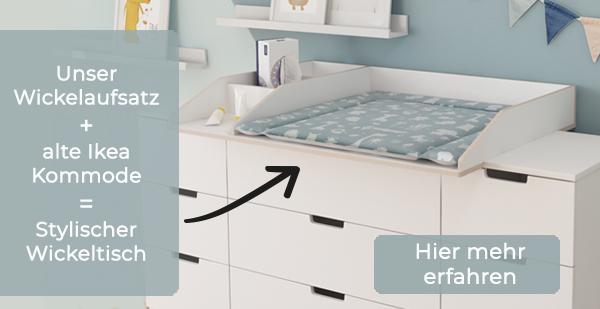 Wickelaufsatz-und-Wickelauflage-f-r-Ikea-Kommode