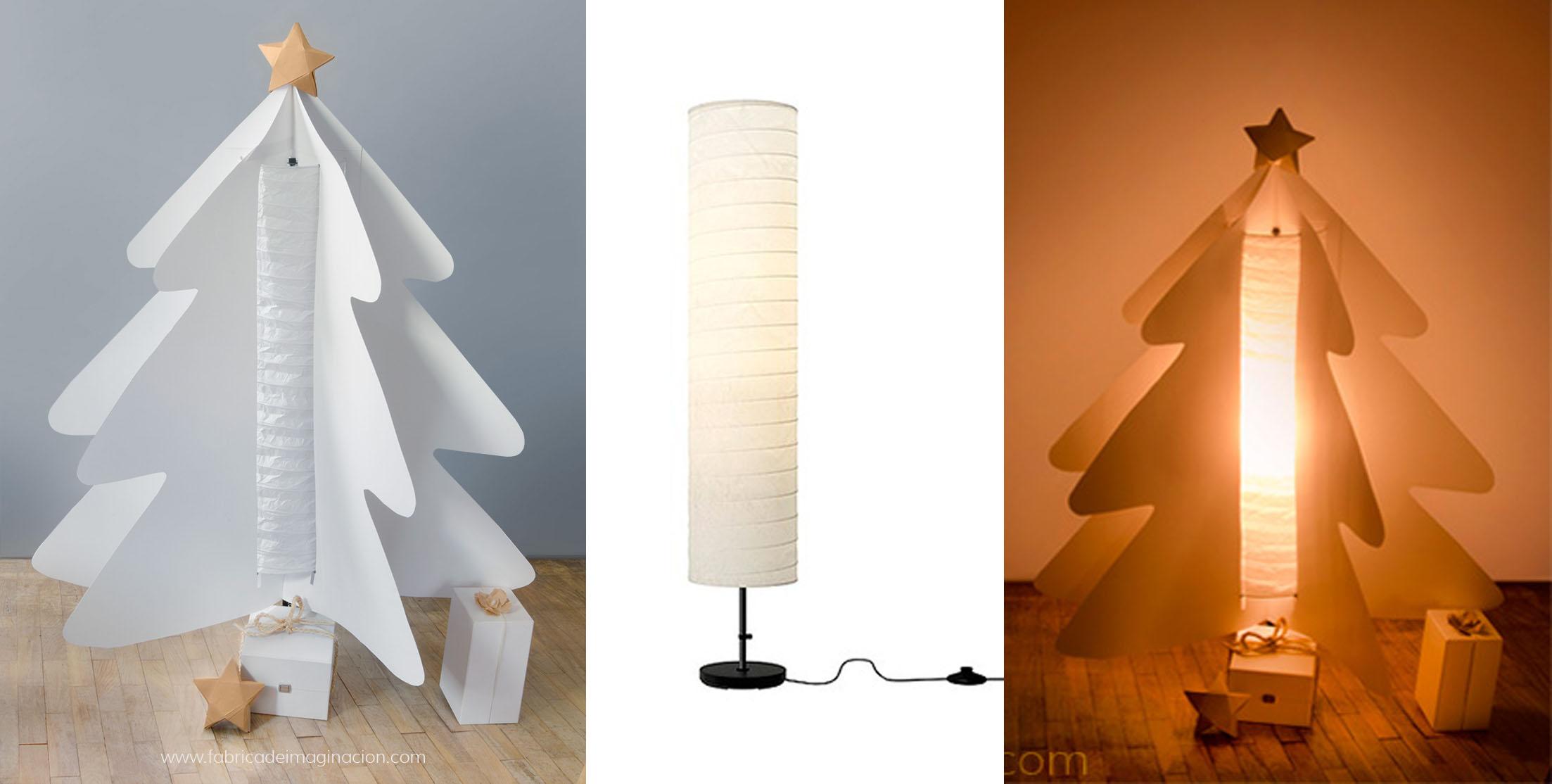 Weihnachtsbaum-aus-Ikea-Holm-Lampe