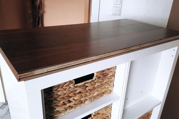 Ikea-Kallax-Makeover-Holzplatte