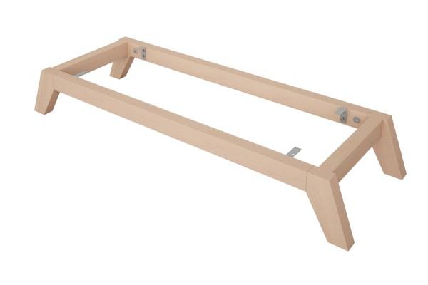 Kallax Untergestell mit schrägen Füssen aus Buchenholz
