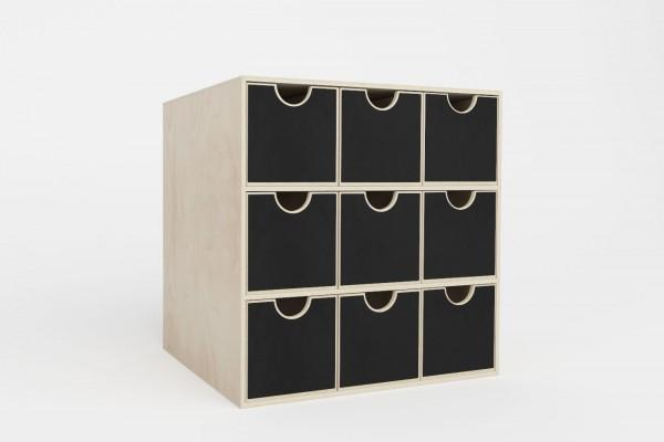 Ausführung Schubladenkommode mit neun Fächern für das Kallax Regal