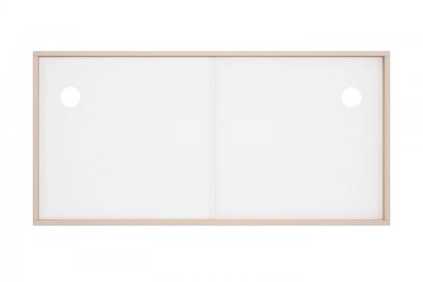 Acryltür-Einsatz in weiß