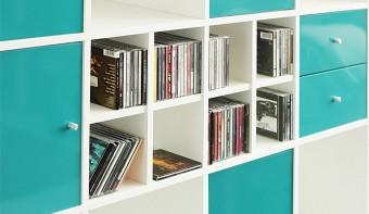 Ikea Möbel Aufbewahrung für DVDs und CDs