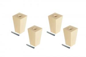 Ikea Besta Möbelfüße 4er-Set Pyramid 10 cm
