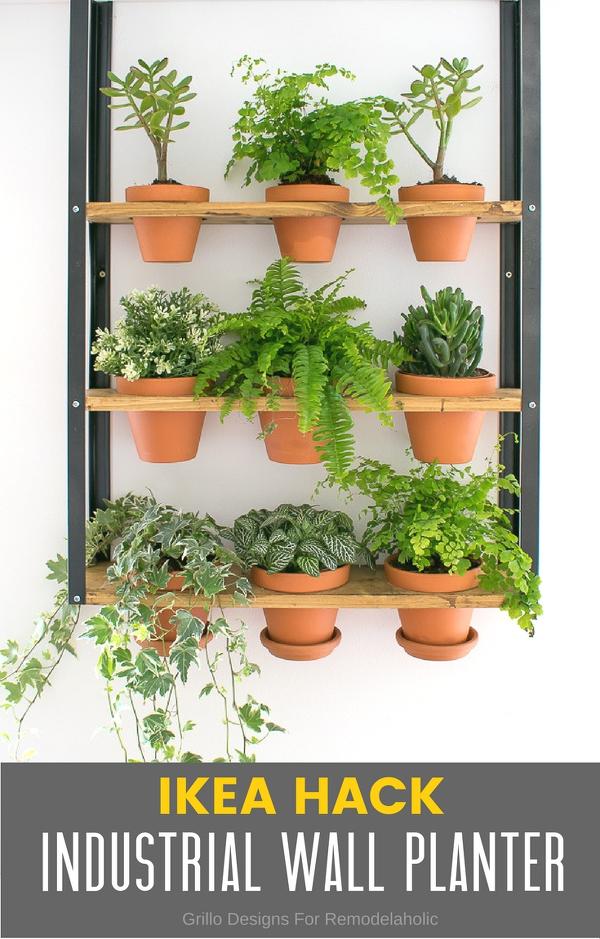 Wandregal_Hyllis_Ikea_mit_Pflanzen