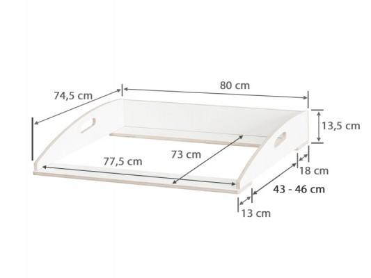 Maße für die Ikea Nordli Kommode vor 2018