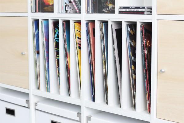 Schallplatten Sammlung im Kallax Regal
