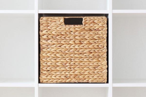 Ikea Regal Kallax hochwertiger kallax regal korb aus wasserhyazinthe design