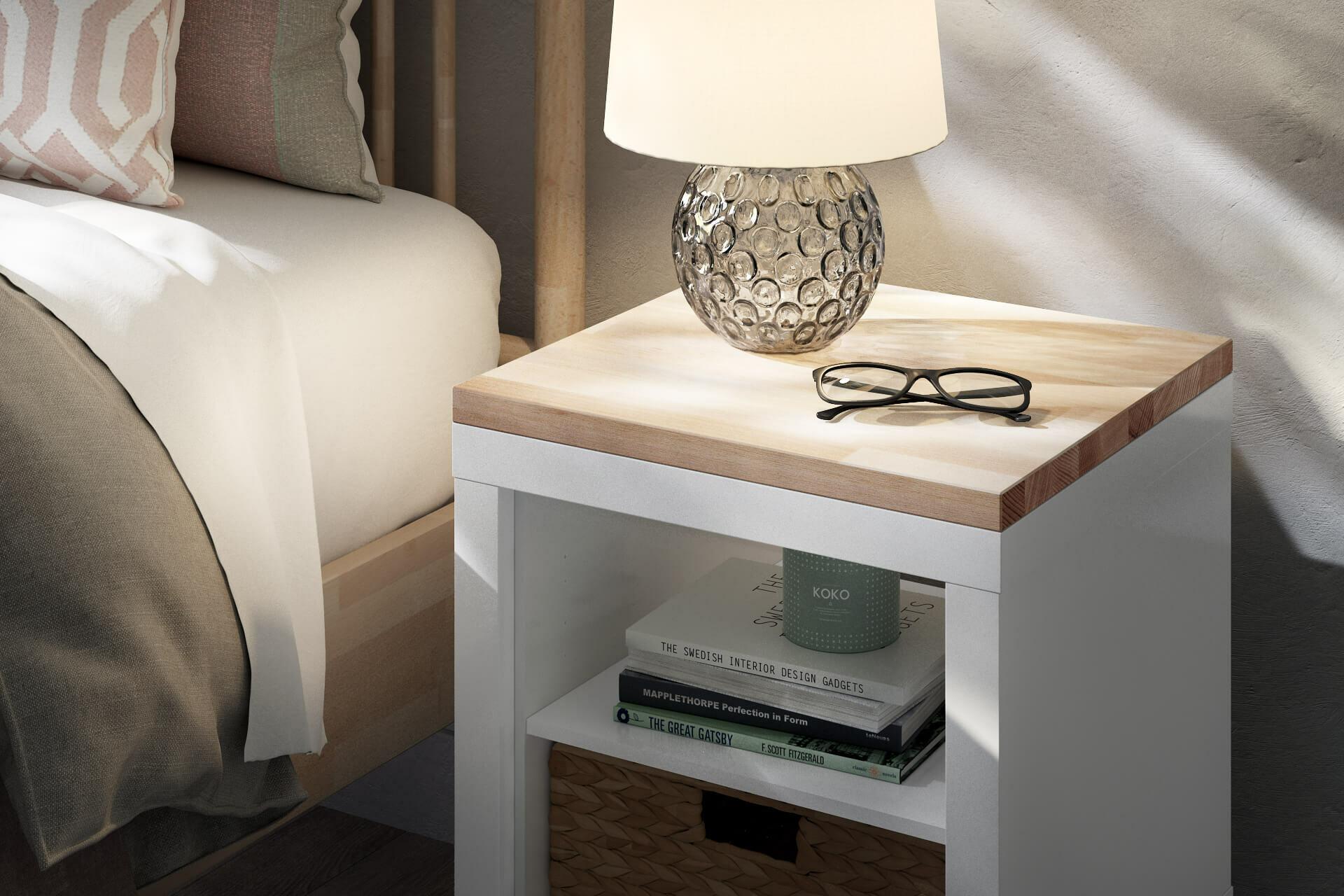 Kallax-W-rfel-Holzplatte-Nachttisch