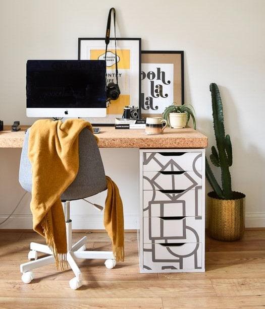Ikea-Alex-Schubladenelement-mit-Folie