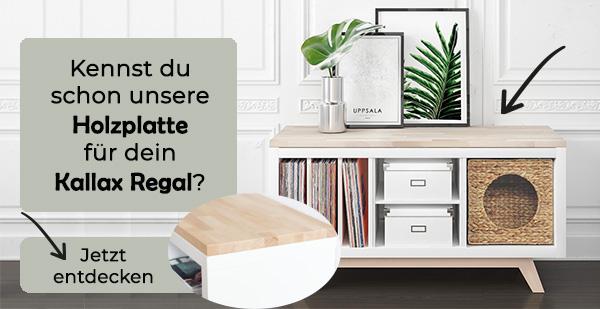 Holzplatte-Kallax-Regal
