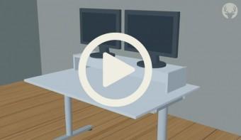 Pimp deinen Ikea Galant Schreibtisch - Monitorständer Desktopp XXL (Animation)