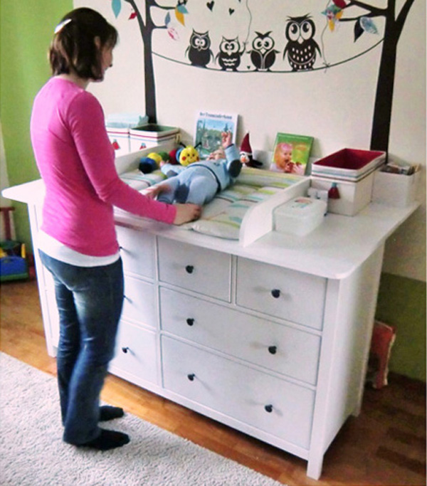 changing table bedroom pinterest neu zuhause mauer zu hemnes kombinieren baby wickeltisch. Black Bedroom Furniture Sets. Home Design Ideas