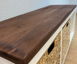 Kallax Holzplatte und Kallax Untergestell beizen
